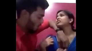 Indian girl kissing her boyfriend and like one another her jugs and gets sucked